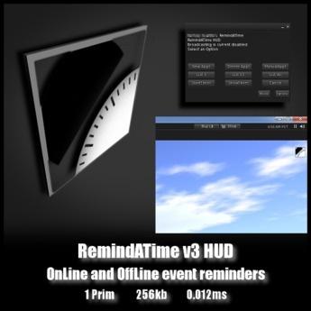 RemindATimeV3 HUD - OnLine and OffLine event reminders