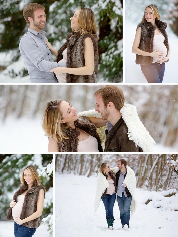Séance photo grossesse sous la neige et en studio | Wedding & Portrait Photographer Lyon France | Burgundy, Morocco, Noumea | Tel: +33 (0)9 51 82 92 05