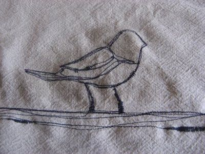 How to thread sketch on a sewing machine.