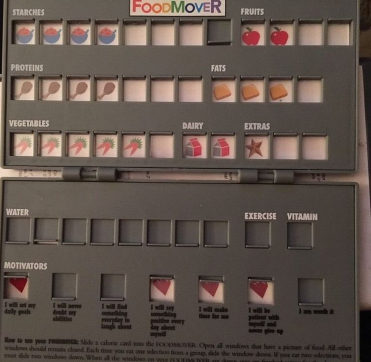 Richard Simmons Food Mover Diet Tracker System 1998 Case with 2 Sided Card | eBay