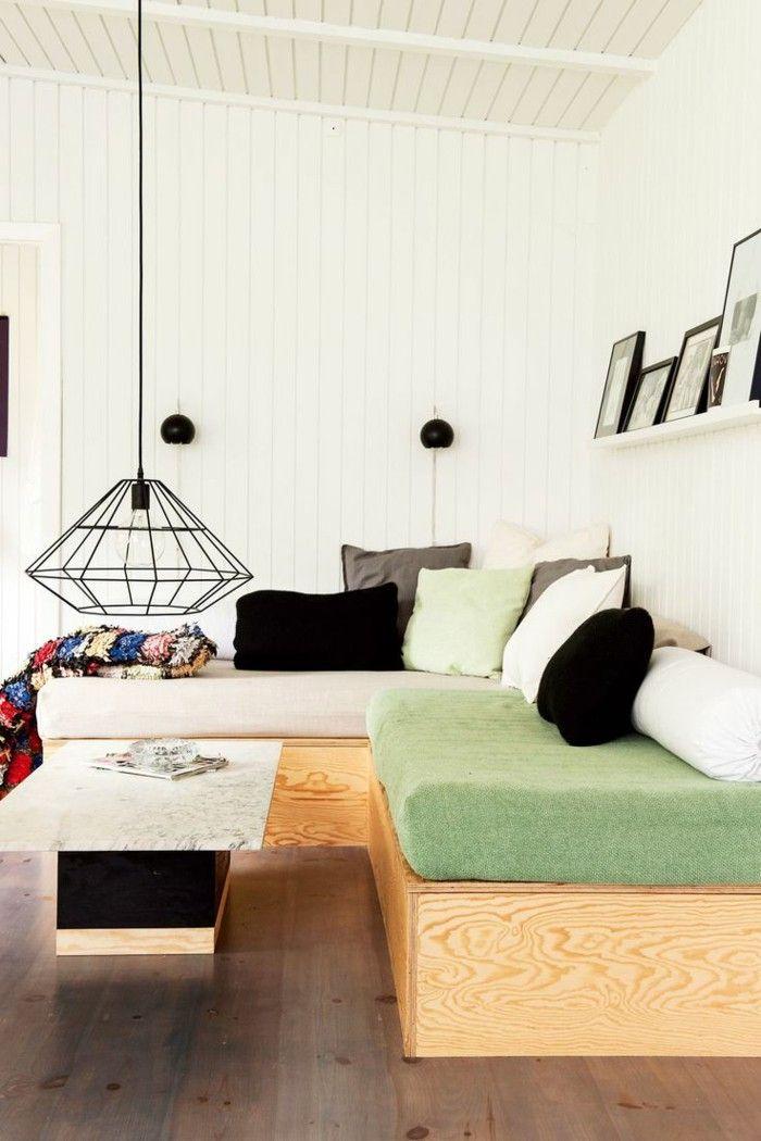 Modern Sofa Divan Sofa Living Room Lamp Chronicly Rack Coffee Table Part 39