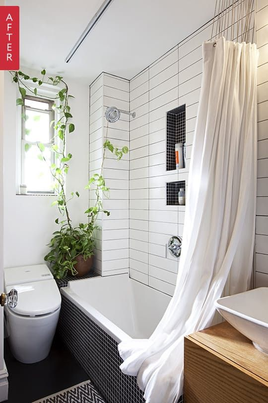 Bathroom makeovers are just so fun to look at. There's something thrilling about seeing an ugly duckling Before room full of utilitarian elements that have to stay—toilet, plumbing—transform into something bright, clean, and even exciting. Here are our 10 favorite After swans of 2015.