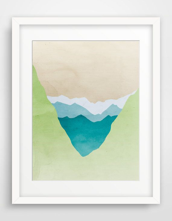 1 of 3 (need to source them) for  chair wall??  Nature Wall Art Large Art Print Abstract Landscape Art by evesand