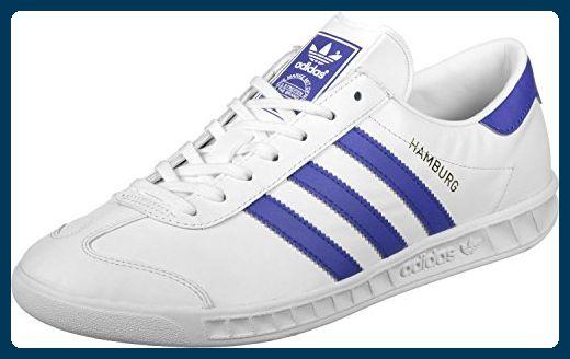 adidas Originals Herren Hamburg Shoes Sneaker, Weiß (White/Bold Blue/Gold Metalic), 38 EU - Sneakers für frauen (*Partner-Link)