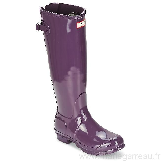 Bottes de pluie Hunter Original Back Adjustable Gloss Violet