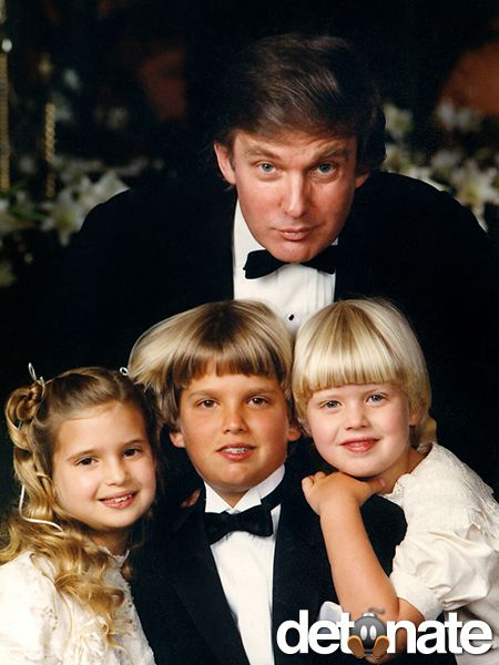 His marriage to Ivana produced three kids: Ivanka, Donald, Jr. and Eric.