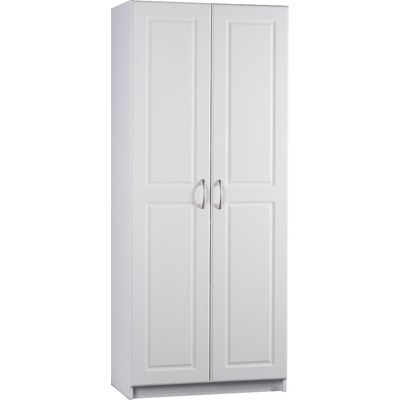 Ameriwood deluxe storage pantry in white wayfair ask for Wayfair kitchen cabinets