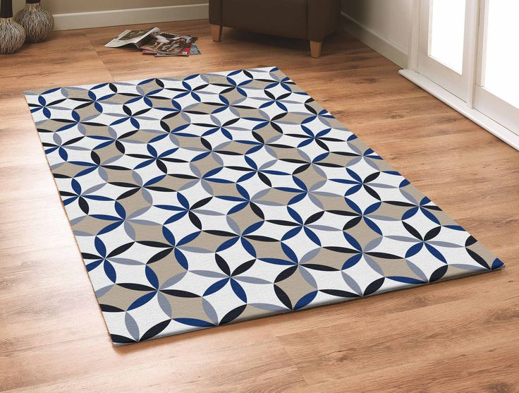 Captivating Contemporary Grey With Beige And Blue Outdoor Area Rug