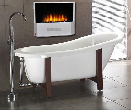 Bathrooms With Fireplaces Pinterest Crafts