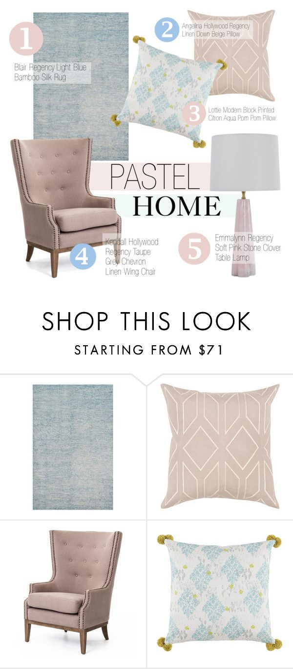 Pastel Home Decor by kathykuohome on Polyvore featuring interior, interiors, interior design, home, home decor, interior decorating, pastel, homedecor and pastelhomedecor