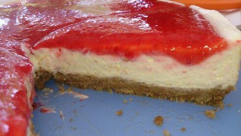 American Cheesecake mit Erdbeeren