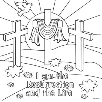 resurrection coloring page httpwwwfreefuneastercomeaster coloring - Catholic Coloring Pages Easter