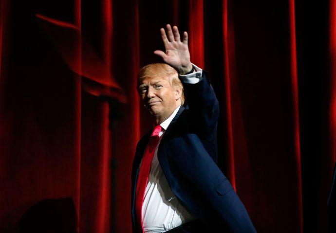 Donald Trump, in January, in Las Vegas.