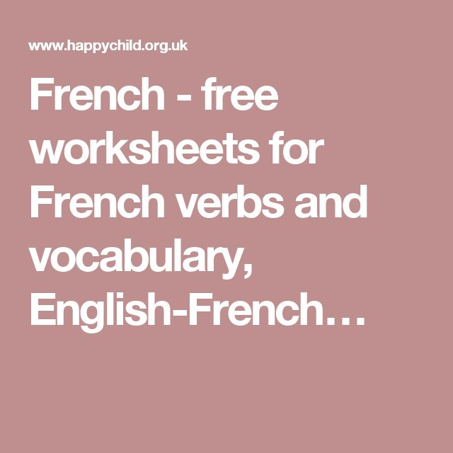 25 best languages zulu xhosa sotho images on pinterest french free worksheets for french verbs and vocabulary english french fandeluxe Gallery