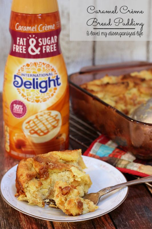 Rich and gooey, this bread pudding is packed with sweet caramel flavor. Don't forget the coffee! #IDelight #ad