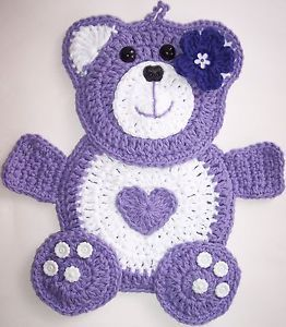 Crochet Teddy Bear Potholder