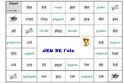 Voici un jeu de l'oie (vous l'aurez compris: j'aime beaucoup les jeux!) spécialement conçu pour la lecture des syllabes complexes comprenant tr, br, dr, vr, fr etc... Comme d'habitude je mets en...
