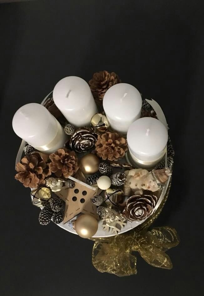 Arany dobozka   / advent   karácsony  koszorú  gyertya   egyedi  saját készítésű  ünnep   hópehely  toboz  hintaló  angyal  szalag/
