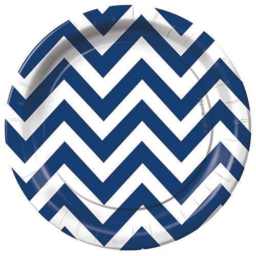 Navy Blue Chevron Paper Plates and Napkins on Flipboard  sc 1 st  Pinterest : bulk paper plates and napkins - pezcame.com