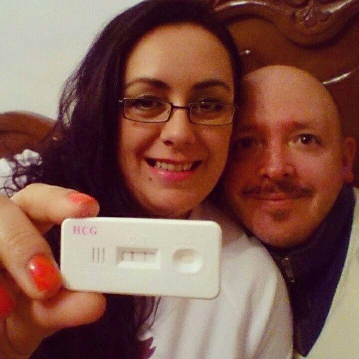 Prueba de embarazo positiva. Lunes 24 de octubre de 2014.