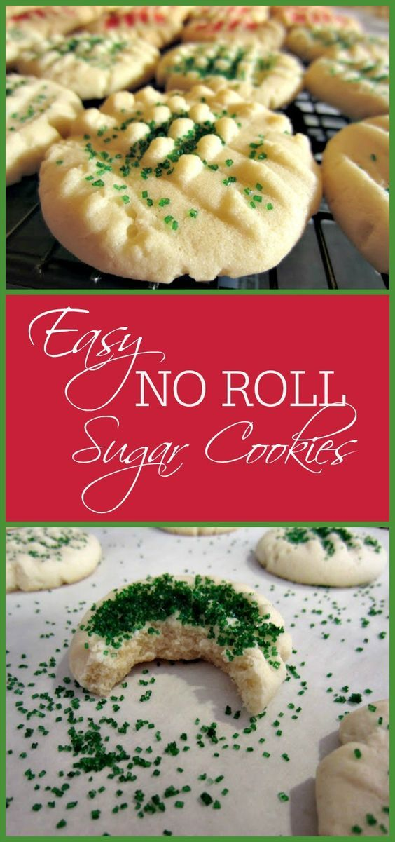 Easy NO ROLL sugar cookies are the easiest sugar cookie you will ever make!