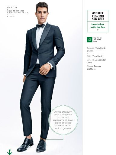 """I saw this in """"How to Master Creative Black Tie"""" in GQ What to Wear Now 2015."""