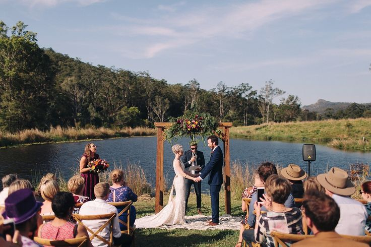 No neighbours, no curfew, no sound restrictions, camping on site - The Farm House was the perfect wedding venue for their relaxed, DIY celebration.