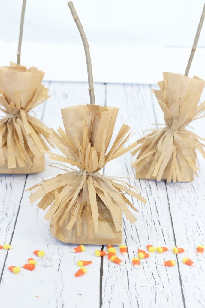 Witch's Broomsticks Treat Bag