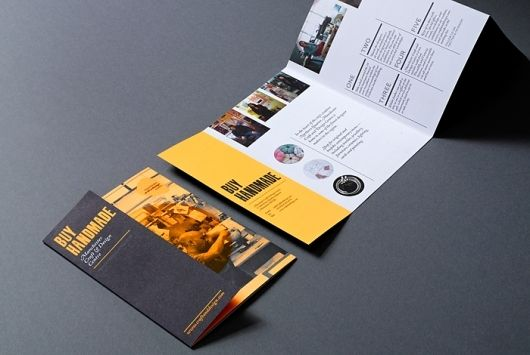 Block panel leaflet design #branding #design