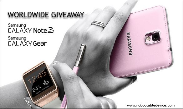 Samsung galaxy note 3 and galaxy gear giveaway http://www.nobootabledevice.com/samsung-galaxy-note-3-and-galaxy-gear-giveaway/