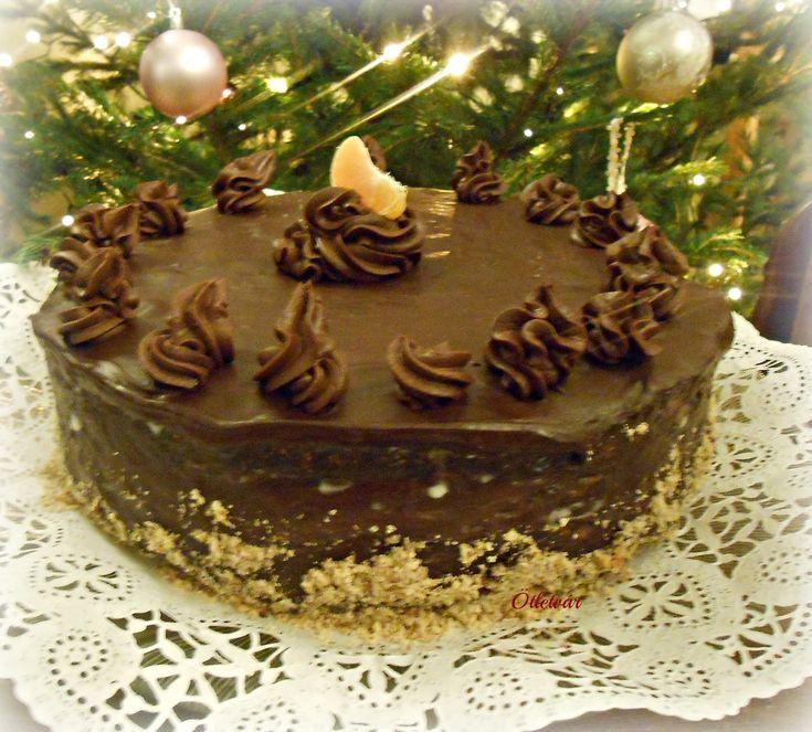 Ünnepi narancsos csoki torta