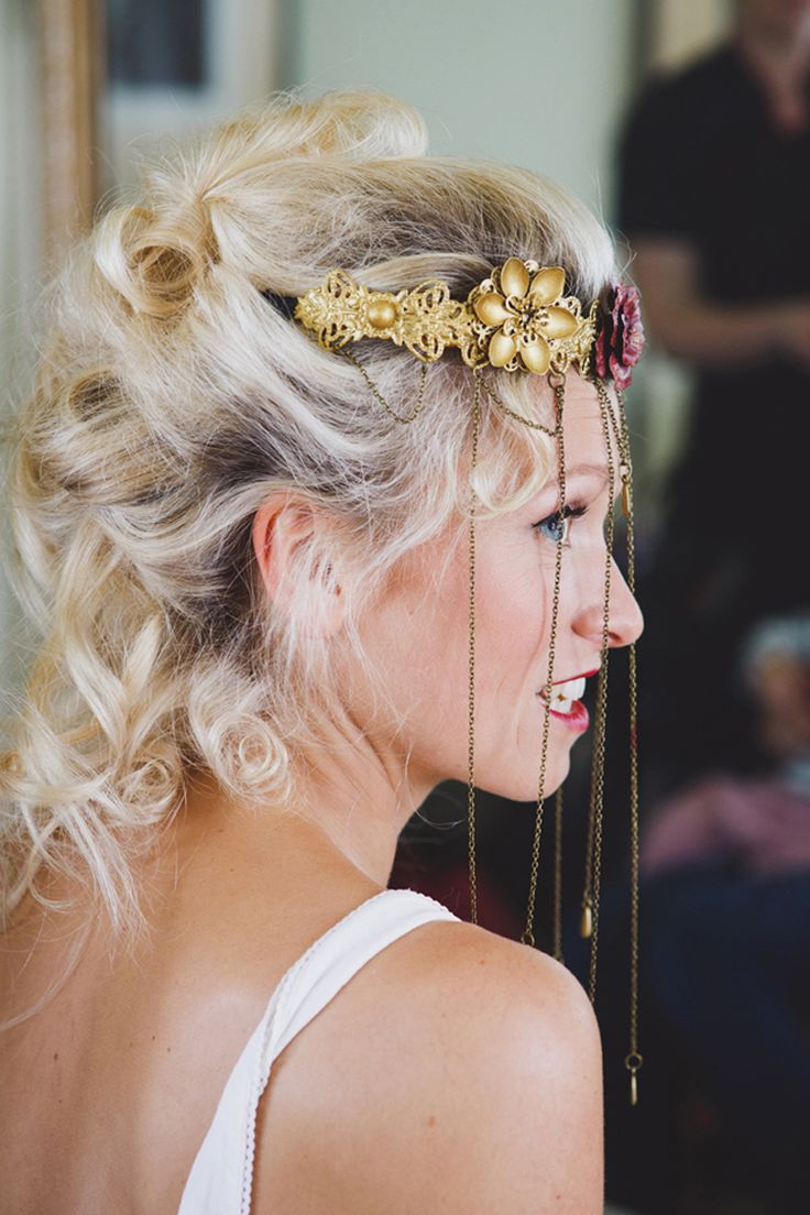 Wedding hair accessories gloucestershire - Hair Chain Headress Wild Artistic Ethereal Wedding Http Sarahannweddings Com
