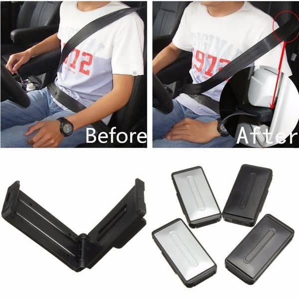 2Pcs Car Auto Seat Belt Clips Adjustable Comfort Safety Locking Stopper Extender Sliver Black  Worldwide delivery. Original best quality product for 70% of it's real price. Buying this product is extra profitable, because we have good production source. 1 day products dispatch from...