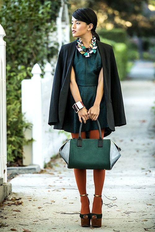 Emerald green dress tumblr color