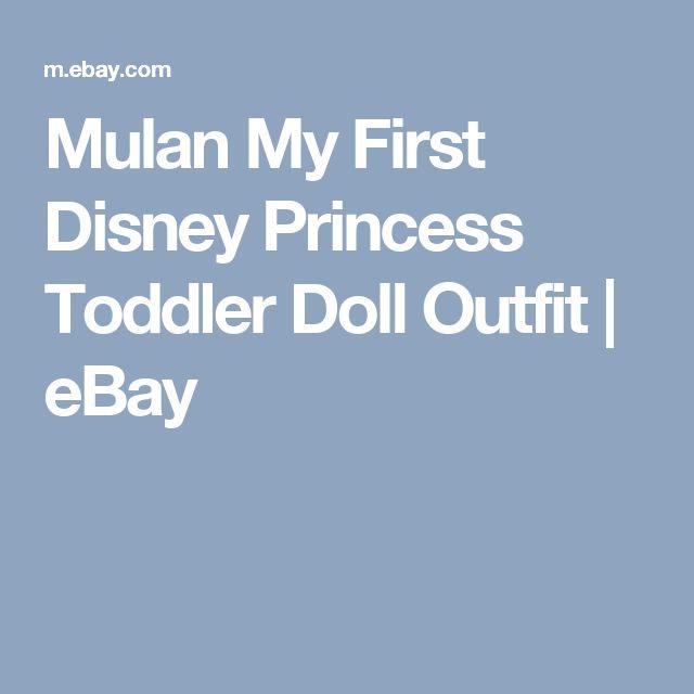 Mulan My First Disney Princess Toddler Doll Outfit     eBay