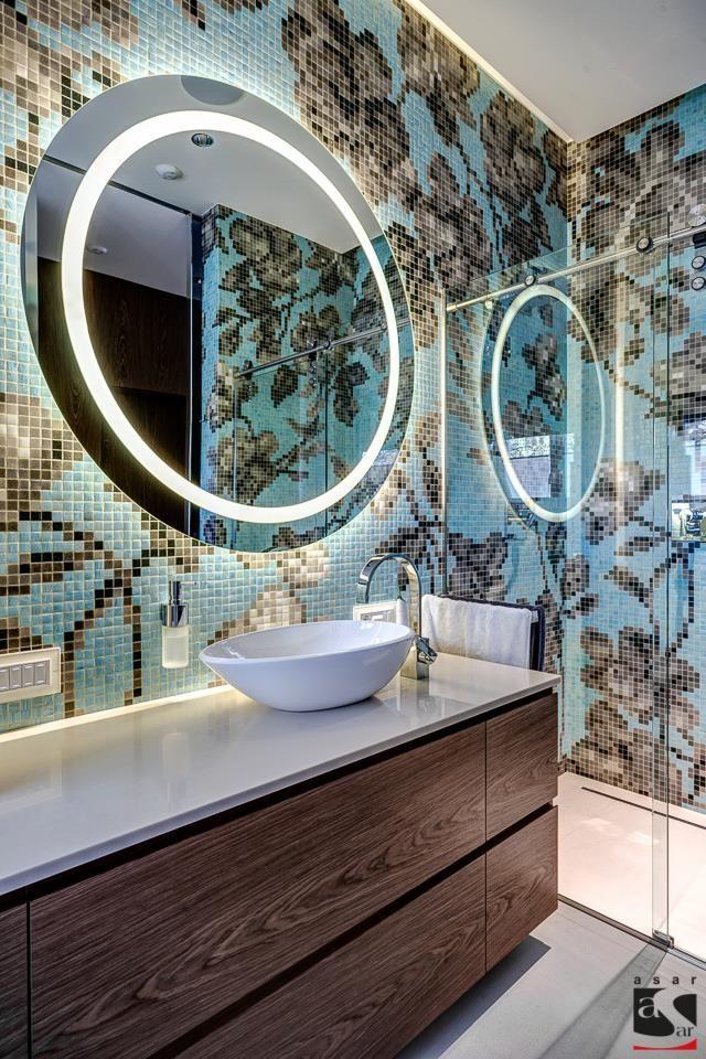 Fixing Water Leaking From Upstairs Bathroom To Downstairs 101 Mosaic Bathroom Round Mirror Bathroom Mosaic Mural Bathroom