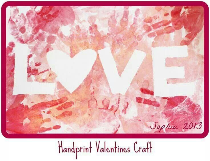 Handprint Valentine craft to do today...another snowday...
