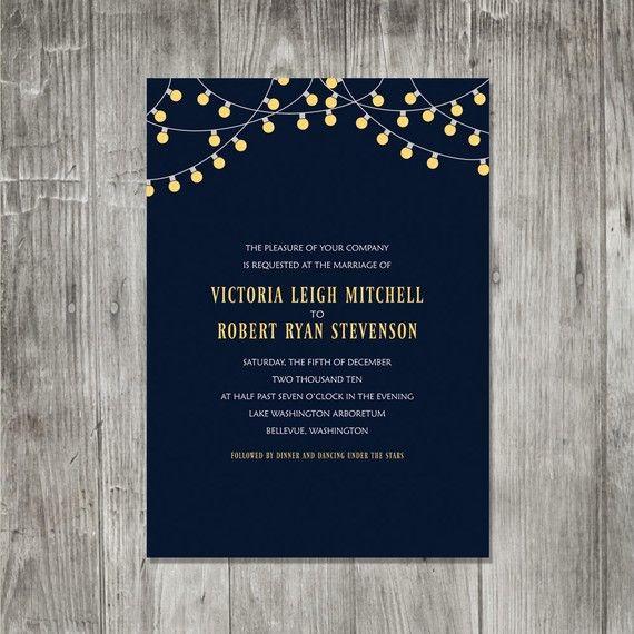 <3 ADD diy www.customweddingprintables.com <3 ...party lights wedding invitation #wedding