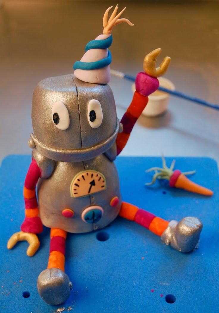 Betty´s Sugardreams - Blog: Anleitung: Roboter Torte