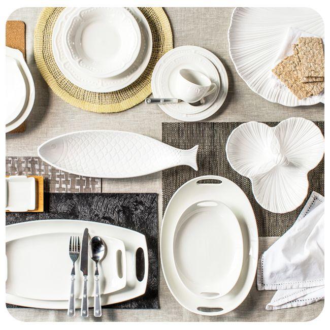 #Deco #Bazar #Decoración #Menaje #Household #Blanco #White #Plato #Dish #Fish #Pez