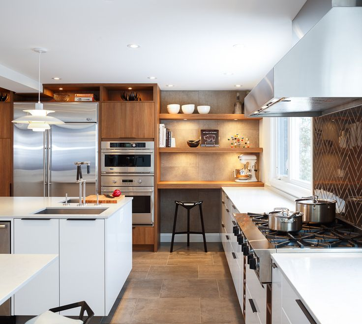 2ND PLACE CONTEMPORARY KITCHEN DESIGN!  Who wouldn't want to cook in this kitchen, all that counter space will sure make it easy and fun! Designed by Astro #astro #ottawa #kitchen #design