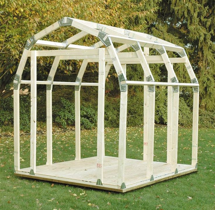 2x4basics diy outdoor storage shed with barn roof for Diy garden shed