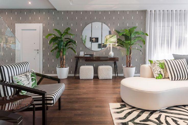 Foto's van een tropische woonkamer in de kleur  door movelvivo interiores | homify