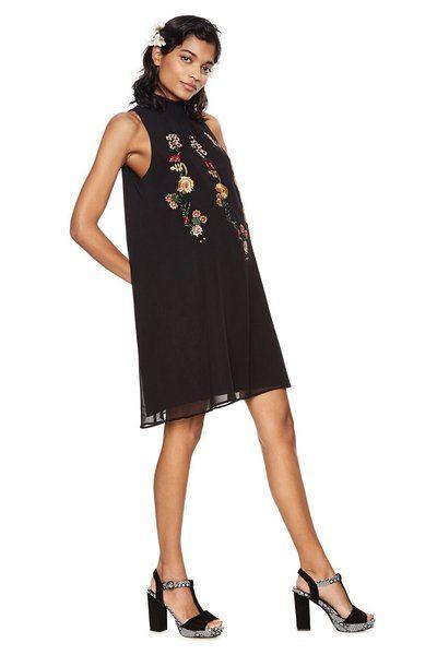 75ea2075a7efc Black flowy dress - Angy | Dresses 2019 | Dresses, Brunch dress ...