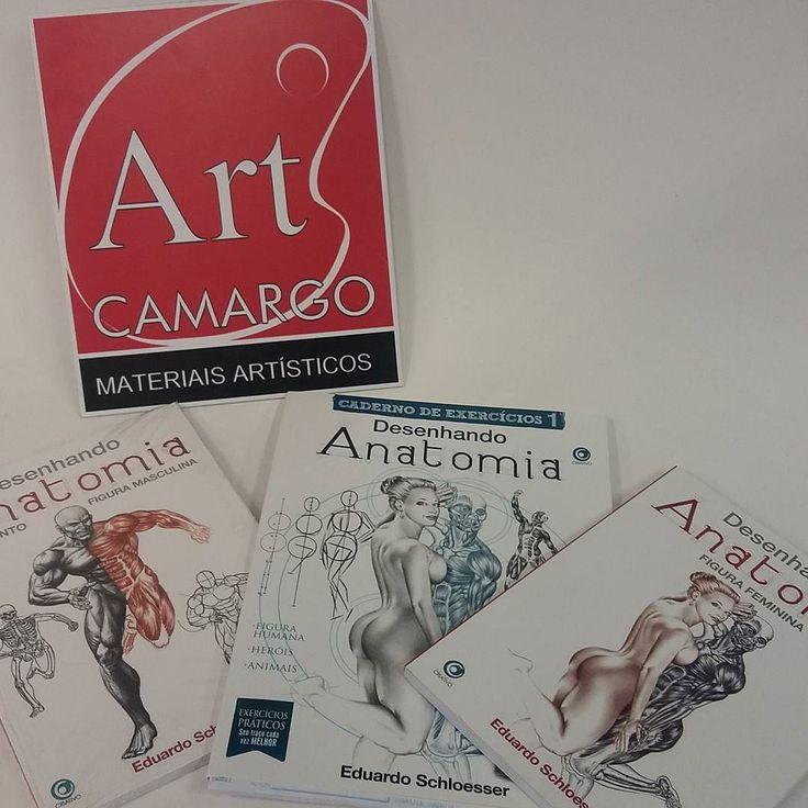 Ótimos livros para aprender ou aprimorar o desenho de anatomia! #artcamargo #aprendaadesenhar #livrosdedesenho #materiaisartisticos #materiaisparadesenho #desenhorealista #eduardoschloesser