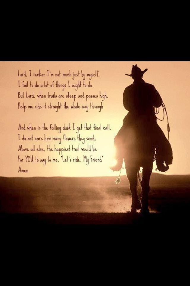 Horseman/Cowboy prayer