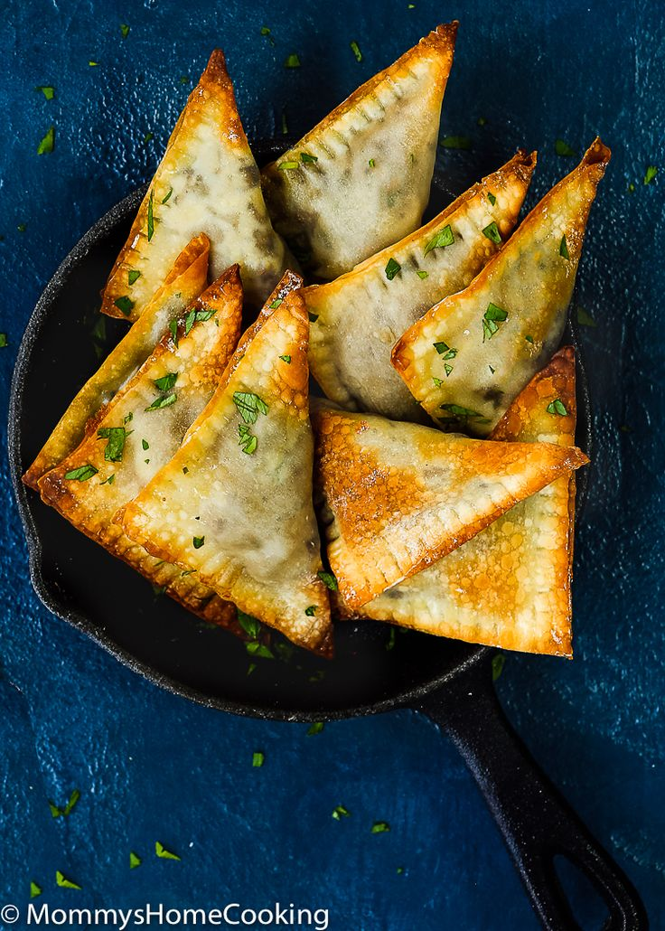 Mushroom and French Goat Cheese Triangles