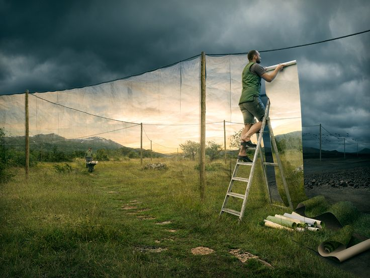 """<b>Artist <a href=""""http://erikjohanssonphoto.com/about/faq-biography/"""" target=""""_blank"""">Erik Johansson</a> is skilled in both photography and photo manipulation.</b> He cites Dali, Magritte and Escher among his inspirations. Erik <a href=""""http://www.inprnt.com/gallery/erikjohansson/"""" target=""""_blank"""">sells</a> these wonderful creations as prints through his website."""