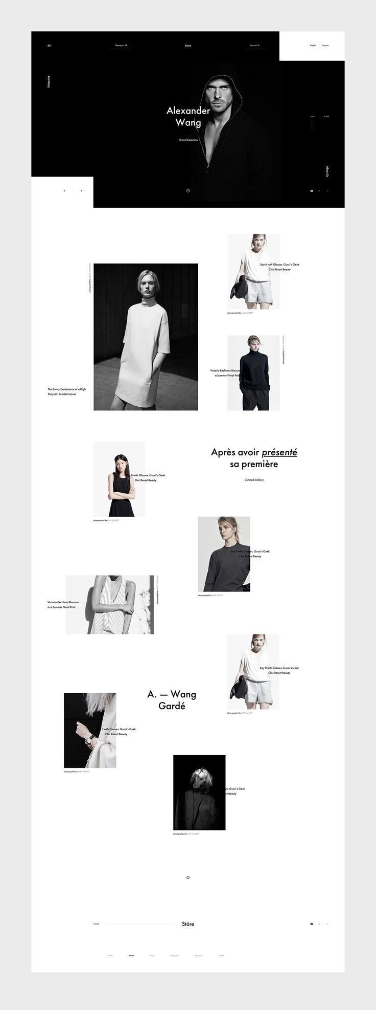 Stóre is a new online fashion shop and editorial magazine from Denmark offering a highly selective premium quality brand clothes.
