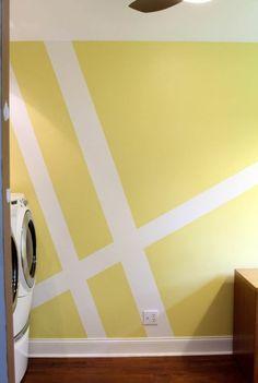w idee couleur peinture glycéro jaune et blanc comment peindre les murs doublecouleur